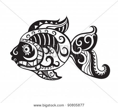 Fish With Ornaments In The Style Of The Maori