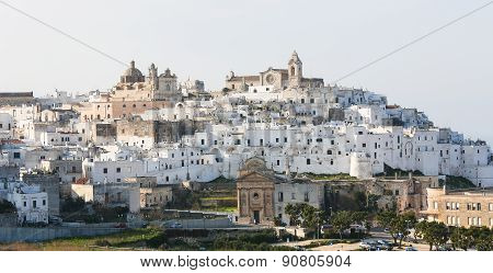 View On The Center Of Ostuni, Puglia, Italy