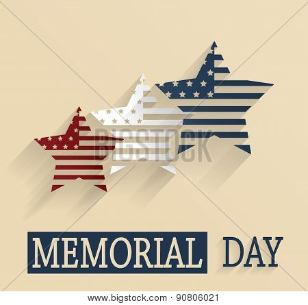 Happy Memorial Day vintage poster