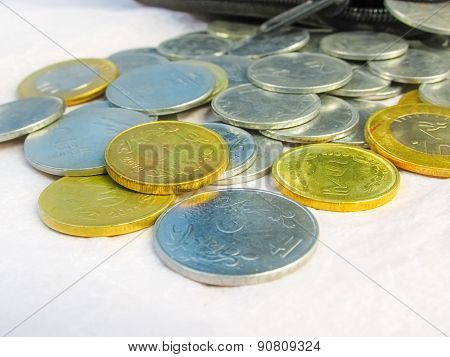 Coins On White Background1