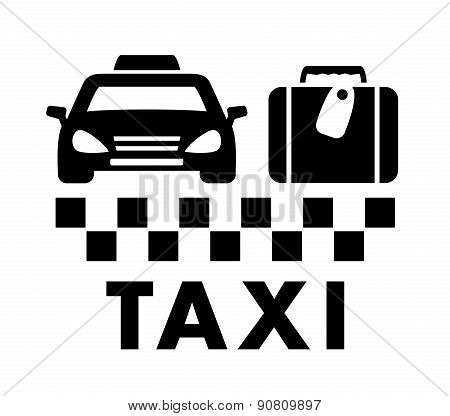 bag and taxi car icon