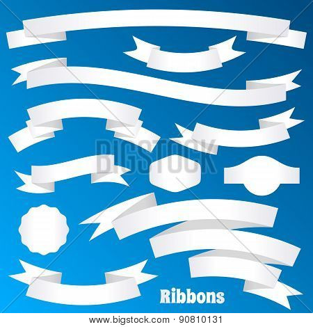 Paper Ribbon Banners And Labels