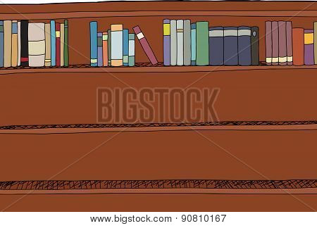 Top Shelf With Books