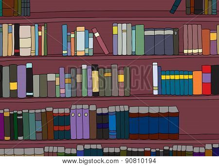 Large Cartoon Bookshelf