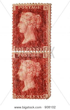 Victorian One Penny Stamp