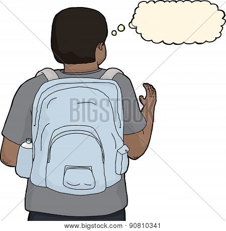 Person With Backpack Reaching