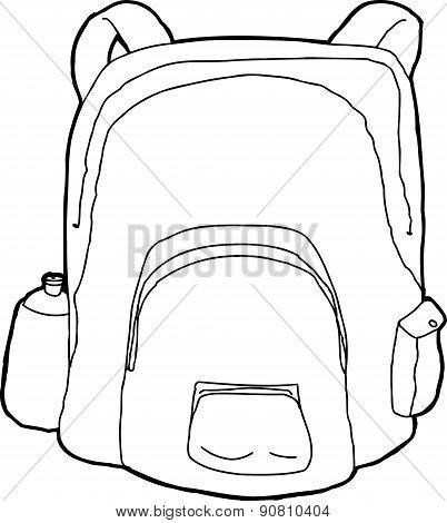 Outlined Backpack
