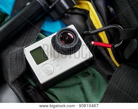 Action Camera Adventure Background
