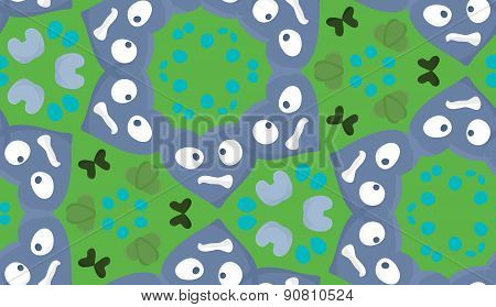 Green And Blue Kaleidoscope Wallpaper Pattern