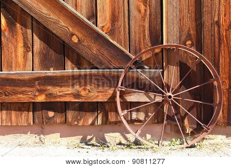 Old Wild West Wagon Wheel
