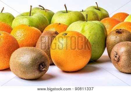 Orange Kiwi and Apple Multi Vitamin Assortment