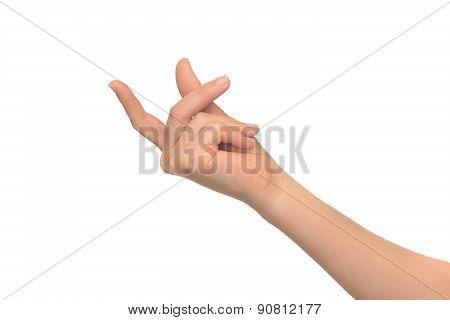 human hand shows gestures