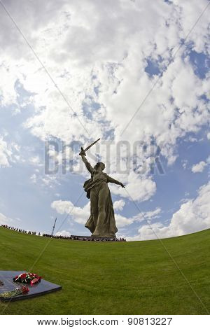 Views Of The Statue Of The Motherland Is Calling Mamayev Kurgan