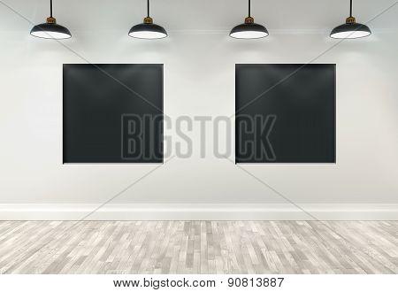 3D Dark Showcases Room