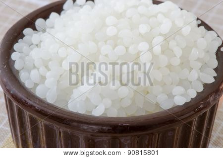 Beeswax Pellets Close-Up