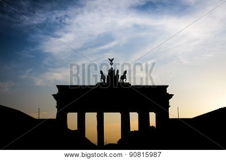 Brandenburg Gate famous landmark in Berlin