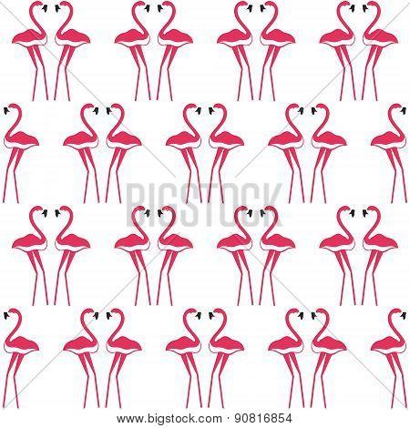 pink flamingos seamless background