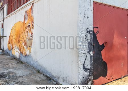 Penang Cat Mural