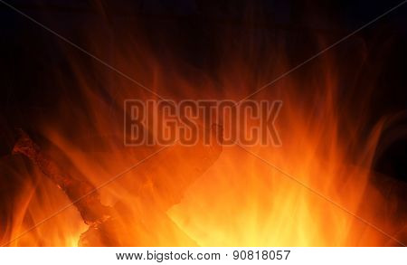 Wooden Fire Burning