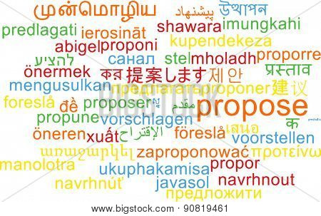 Background concept wordcloud multilanguage international many language illustration of propose