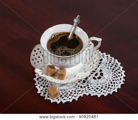 A Cup Of Coffee. Napkin