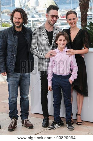 Amir Tessler and director Natalie Portman attend the 'A Tale Of Love And Darkness' Photocall during the 68th annual Cannes Film Festival on May 17, 2015 in Cannes, France.