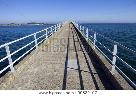famous roscoff bridge to nowhere, in the north of france