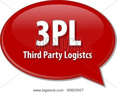 word speech bubble illustration of business acronym term 3PL 3rd Party Logistics vector