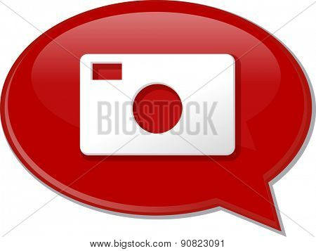 Word speech bubble illustration of discussion forum blog photography photo camera vector
