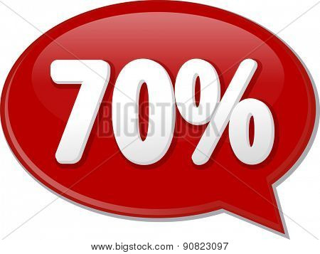 Word speech bubble illustration of discussion forum blog percent discount seventy 70 vector