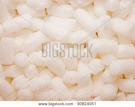 Retro Look White Polystyrene Beads Background