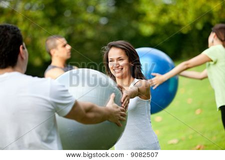Pilates Class Outdoors