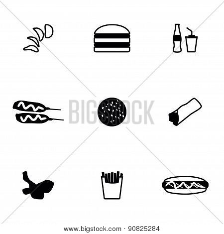 Vector Fast food icon set