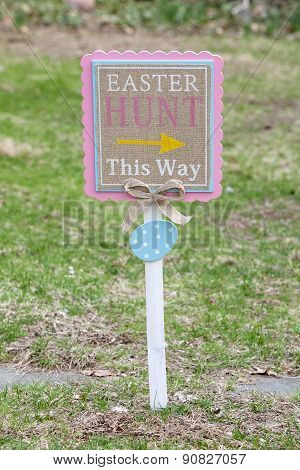Easter Lawn Sign