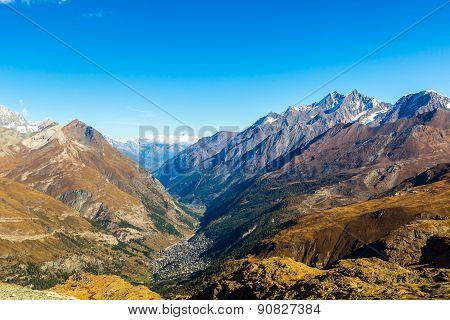 Alps Mountain Landscape In Swiss