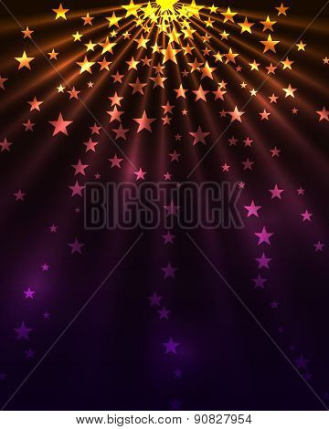Stars burst vertical background.