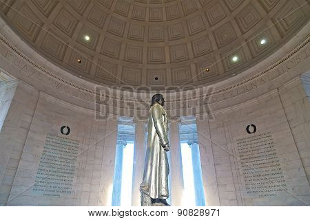 WASHINGTON DC - APRIL 11, 2015: Thomas Jefferson' Statue in Washington DC