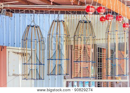 Fish Traps Hanging  Outisde A House