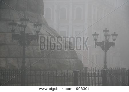Foggy Lampposts
