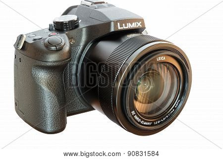 Panasonic Lumix Dmc- Fz1000 Bridge Digital Camera Isolated On White Background