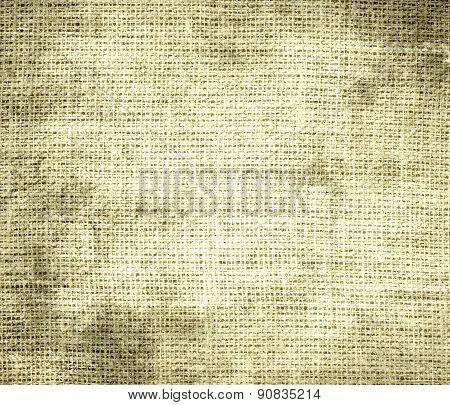 Grunge background of banana mania burlap texture