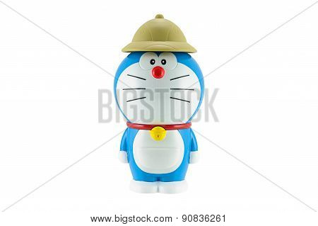Doraemon A Blue Robot Cat With Brown Hat A Main Protagonist Of Doraemon Japanes Animation Cartoon.