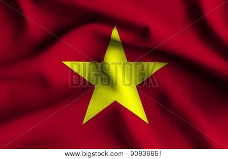 Flag Of Vietnam.