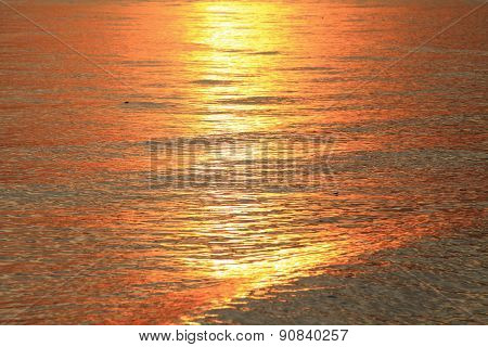 reflections of sunlight in the sea