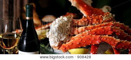 King Crab And Wine