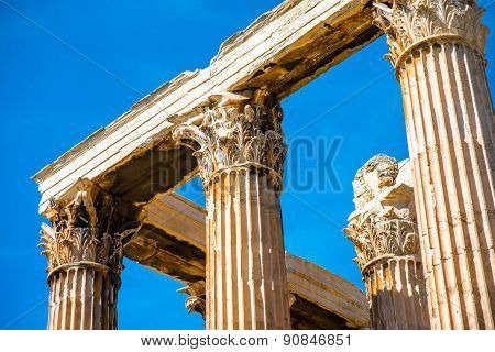 Zeus temple ruins in Athens