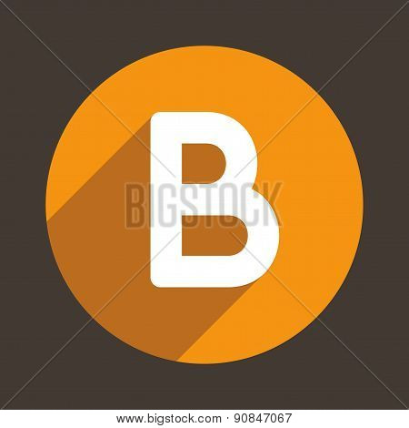 Letter B Logo Flat Icon Style. Vector