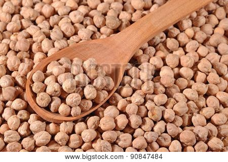 Chick-peas  In A Spoon