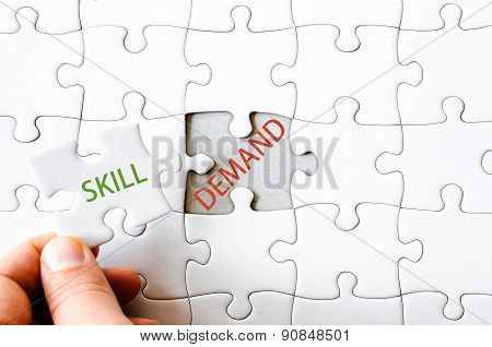 Missing Jigsaw Puzzle Piece With Word Skill