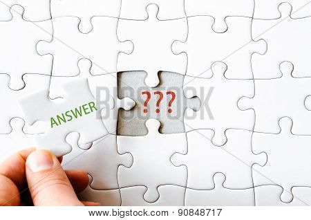 Missing Jigsaw Puzzle Piece With Word Answer